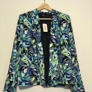 Forever 21 floral patterned blazer